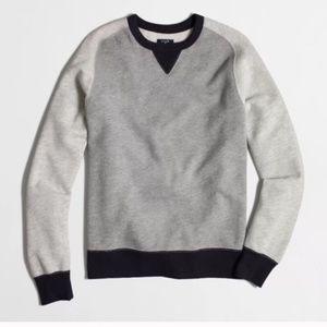 J. CREW Vintage Fleece Colorblock Pullover